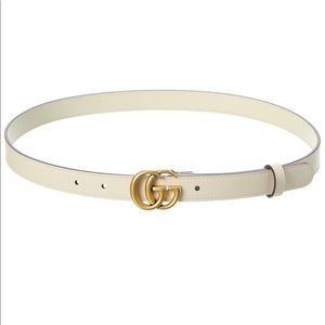 GUCCI Double G Leather Belt Size 75 or XS
